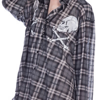 Wildfox Couture Cimitero Seattle Button Down Grey