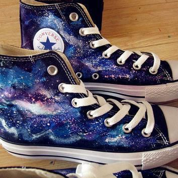 galaxy converse custom galaxy converse hand painted shoes galaxy shoes converse custom