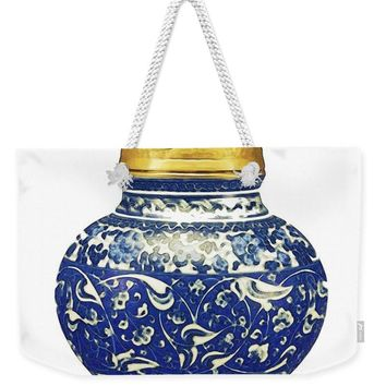 An Ottoman Iznik Style Floral Design Pottery Polychrome, By Adam Asar, No 9a - Weekender Tote Bag
