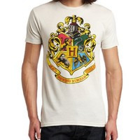 Bioworld Men's Harry Potter Hogwarts Crest Tee