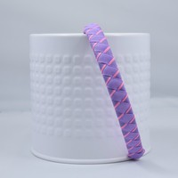 Woven Headband Lavender with Pink Stripe-Toddler Headbands and Girls Headbands
