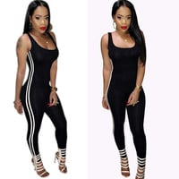 Tank Sexy Overalls Women Jumpsuit Fitness Playsuit Bandage Club Romper Backless Bodysuit Women Overalls Summer Playsuit Plus