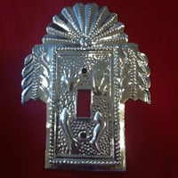 Silver Milagro Light Switch Plate
