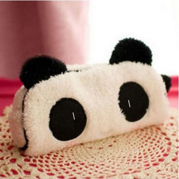 Cute Soft Panda Plush Pencil Case Pen Pocket Cosmetic Zipper Bag Pouch Gift = 5617240641