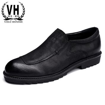 In the spring of 17 Vintage Nubuck Leather Shoes Men's Casual Shoes shoes leather shoes literary young men