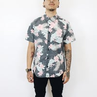 Larry Short Sleeve Tropical Button Up Shirt