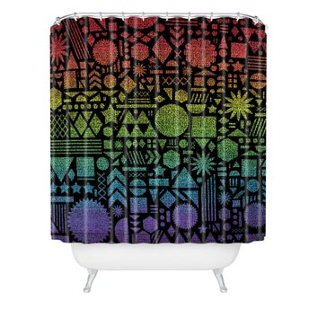 Nick Nelson Modern Elements With Spectrum Shower Curtain