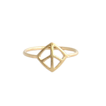 Diamond Leaf Midi Ring