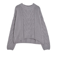 Cable-knit sweater - Knit - Clothing - Woman - PULL&BEAR United Kingdom