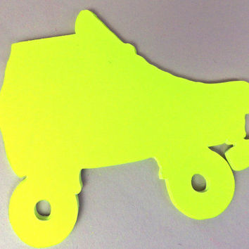 80s Style Roller Skates Tag -- Cut Out -- Paper Crafts for Scrapbooking or Tagging -- Adjustable Sizes and Colors