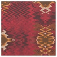 Red yellow modern abstract pattern fabric
