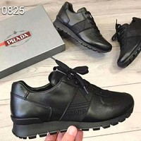 PRADA 2018 new letter logo color matching sports casual running shoes #2