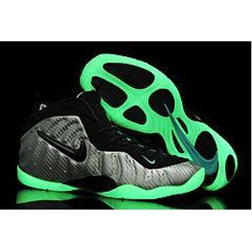 Air Foamposite Pro Luminous White/Black Basketball Shoe Size 40--47