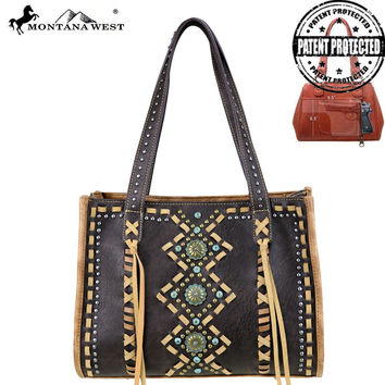 Coffee Concho Concealed Handgun Tote Purse