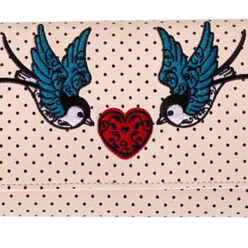 Banned Lolita Swallow Tattoo Girl Polka Dot embroidery Wallet