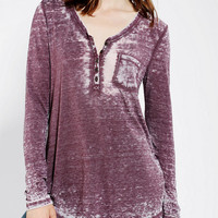 Urban Outfitters - BDG Cozy Camp Henley Tunic Top