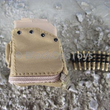 US Navy SEAL Team 8 Gunner Nato 7.62mm Metal Chain Ammo Link with Ammo Box