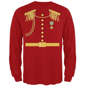Halloween Prince Charming Costume Red Adult Long Sleeve T-Shirt
