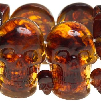 KREEPSVILLE 666 SKULL COLLECTION BRACELET AMBER - Sourpuss Clothing