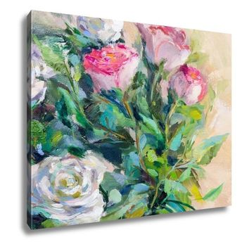 Gallery Wrapped Canvas, Oil Painting Impressionism Style Painting Flower Still Life Painting Art