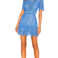 SAYLOR Darian Dress in Blue | REVOLVE