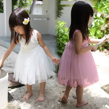 Girls Baby Toddler Princess Flowers Floral One-piece Tutu Dresses Skirt  ffp = 1958305348