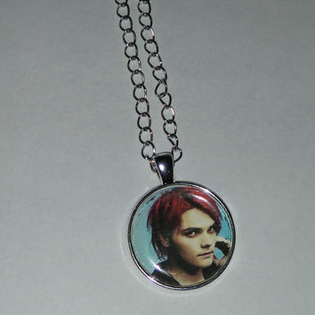 Awesome Gerard Way from My Chemical Romance necklace glass pendant