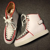 Cl Christian Louboutin Mid Style #2158 Sneakers Fashion Shoes - Best Deal Online