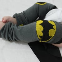 Baby to Toddler Batman Leg Warmers with Cape, Halloween Costume, Dress Up