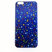 iPhone 6 Plus Case Cute Stars iPhone 6 Plus Hard Case Retro Back Cover For iPhone 6 Slim Design Case Confetti Stars