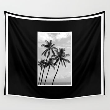 Palm Trees Hawaii Wall Tapestry by Derek Delacroix