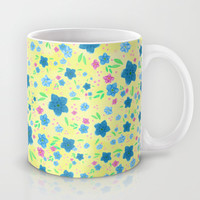 Forget Me Nots - Yellow Mug by Lisa Argyropoulos