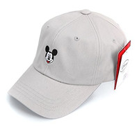 Walt Disney Mickey Mouse Face Baseball Cap (5. Gray)