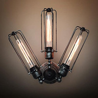 Factory Direct  Adjustable Cage Wall Sconces Lamp Rustic Industrial Windmill Sector Wall Lights