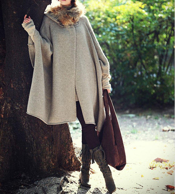 Women Apricot Cape Coat Winter Coat From Angelcity2012 On Etsy