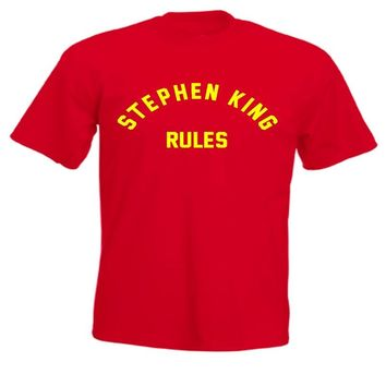 Stephen King Rules Monster Squad 80s Movie T Shirt