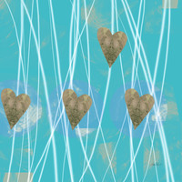 Heart Strings abstract art by Ann Powell Art Print by Art64