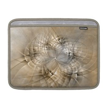 Earth Tones Abstract Modern Fractal Art Texture MacBook Air Sleeve