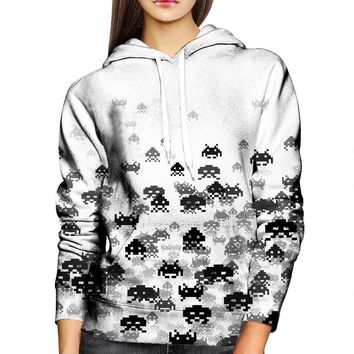 Invaded White Womens Hoodie
