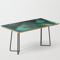 Green and Gold Coffee Table by duckyb