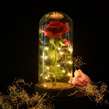 Enchanting Rose Lamp