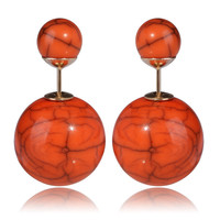 Gum Tee Tribal Earrings - Stone Orange