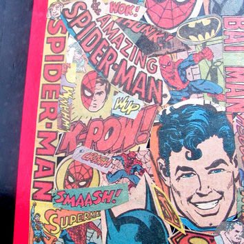 Superhero Daily Planner - Comic Book Calendar - Superman Book - Spiderman Book - Batman Book - Geekery Calendar - Geekery Notebook