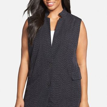 Plus Size Women's Eileen Fisher Long Organic Cotton Vest,