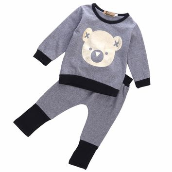 2 Piece Bear Sweat Shirt + Pants
