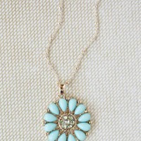mystic flora necklace in mint at ShopRuche.com