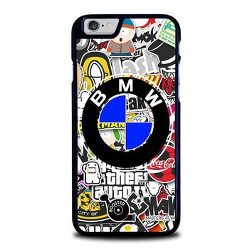 bmw sticker bomb iphone 6 6s case cover  number 1