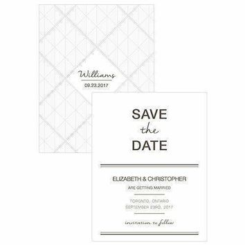 City Style Save The Date Card Charcoal (Pack of 1)