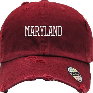MARYLAND Distressed Baseball Hat