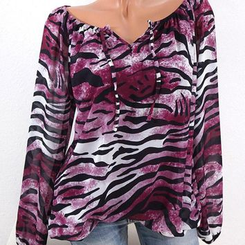 Hot New Spring Autumn T-Shirts Women 2018 Clothes Sexy V Neck Off Shoulder Long Sleeve Leopard Print T Shirts Plus Size 5XL Tops